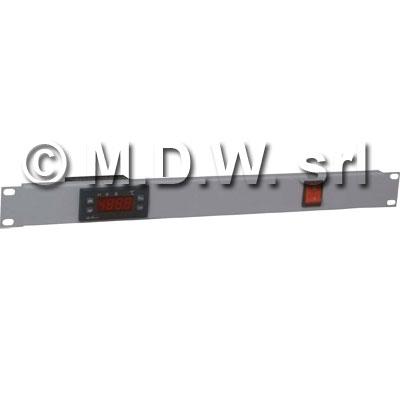 Pannello 1 unità termostatato colore grigio chiaro RAL7035