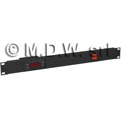 Pannello 1 unità termostatato colore nero RAL9005