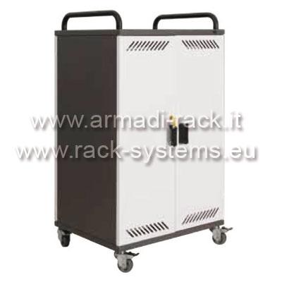 Armadietto metallico con ruote per custodia e trasporto - Notebook con porta parallela ...