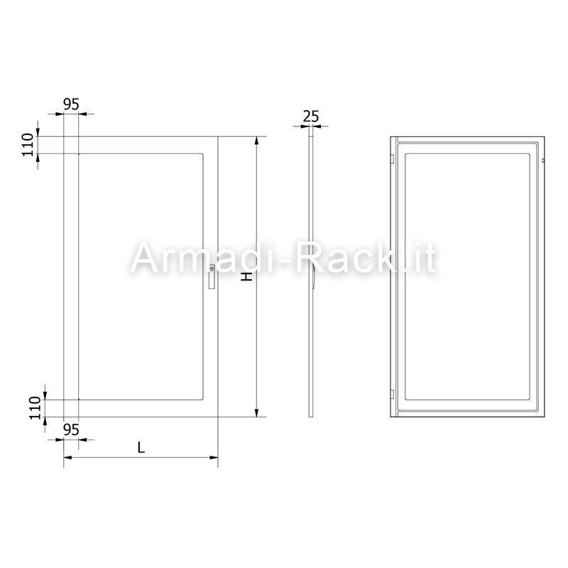 Porta esterna con vetro temprato di spessore 4 mm per for Porta esterna