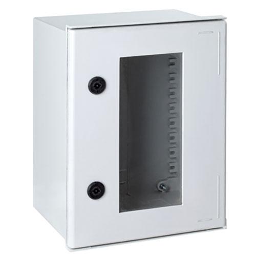 Armadio in poliestere con oblo', IP66, doppia chiusura, dimensioni mm. 500X400X200 (vuota)