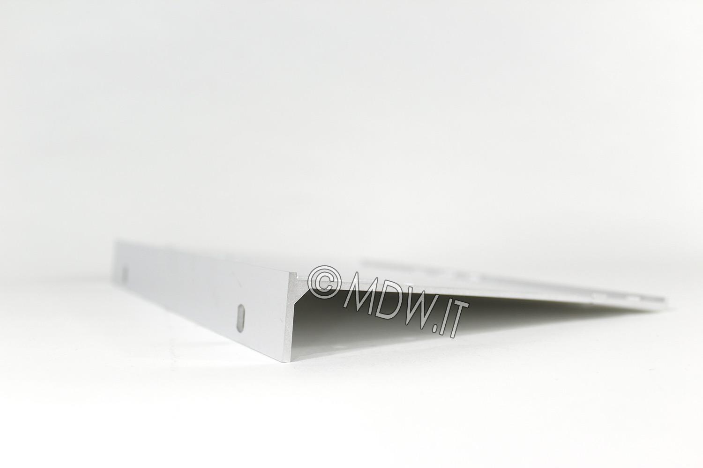 Parete laterale completa di flangia per subrack 6 unità profondi 178 mm per schede da 160 mm