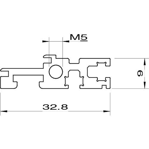 profilo subrack euro rack posteriore per main board