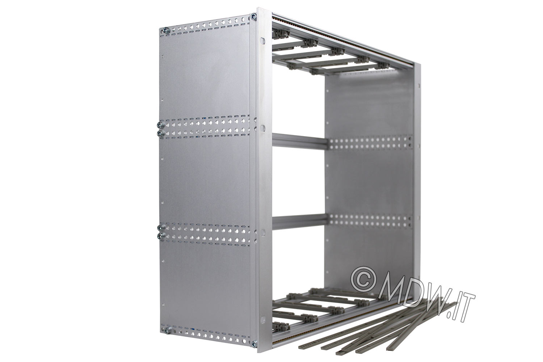 Subrack portamoduli 1 x 9U 84HP x 178 per schede P=160 con connettori ad inserzione diretta o su backplane