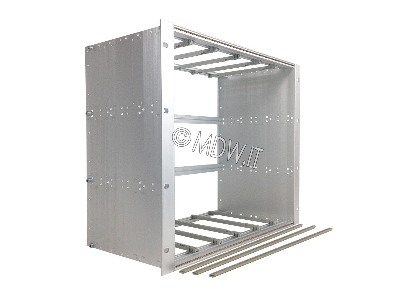 Subrack portamoduli 1 x 9U 84HP x 239 per schede P=220 con connettori ad inserzione diretta o su backplane