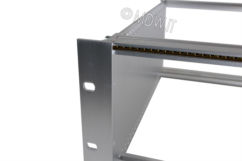 Subrack portamoduli a pareti composte 1 x 3U 84HP per schede P=280 con connettori ad inserzione diretta o su backplane