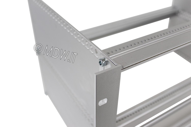 Subrack portamoduli a pareti composte 6U (2 x 3U) 84HP per schede P=280 con connettori ad inserzione diretta o su backplane