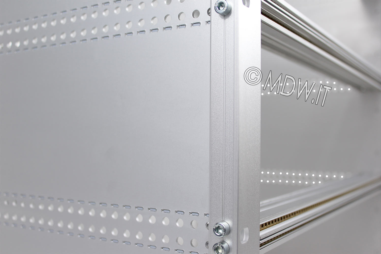Subrack portamoduli a pareti composte 9U (3 x 3U) 84HP per schede P=280 con connettori ad inserzione diretta o su backplane