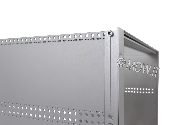 Subrack portamoduli a pareti composte 1 x 6U 84HP per schede P=280 con connettori ad inserzione diretta o su backplane
