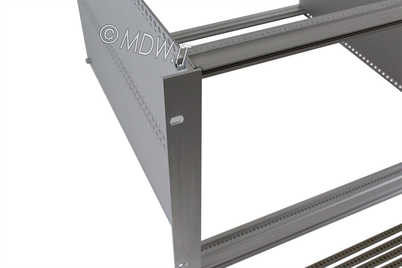 Subrack portamoduli a pareti composte 1 x 6U 84HP per schede P=450 con connettori ad inserzione diretta o su backplane