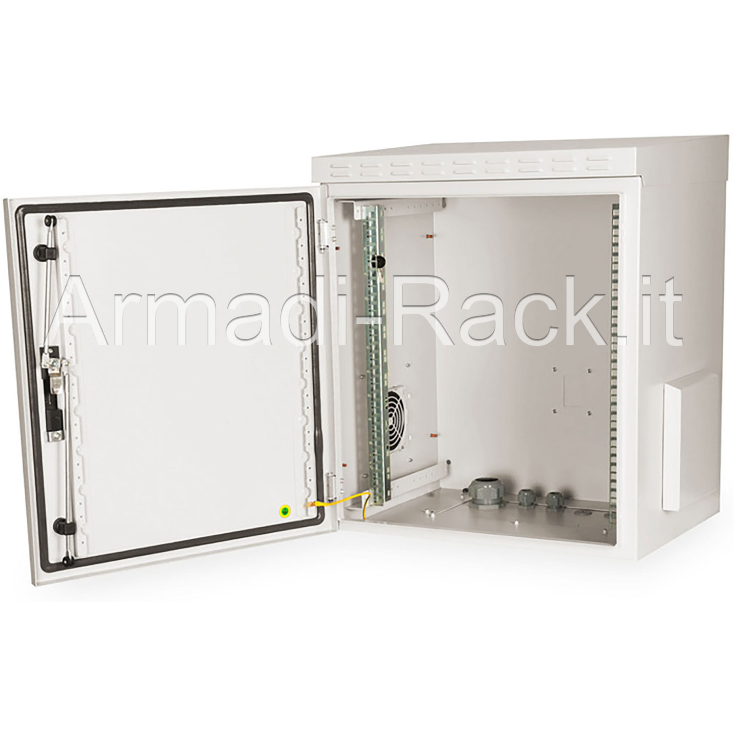 Armadio 12 unità rack per esterno IP55 Outdoor Wall Mounting 19'' Cabinets W=600mm D=600mm