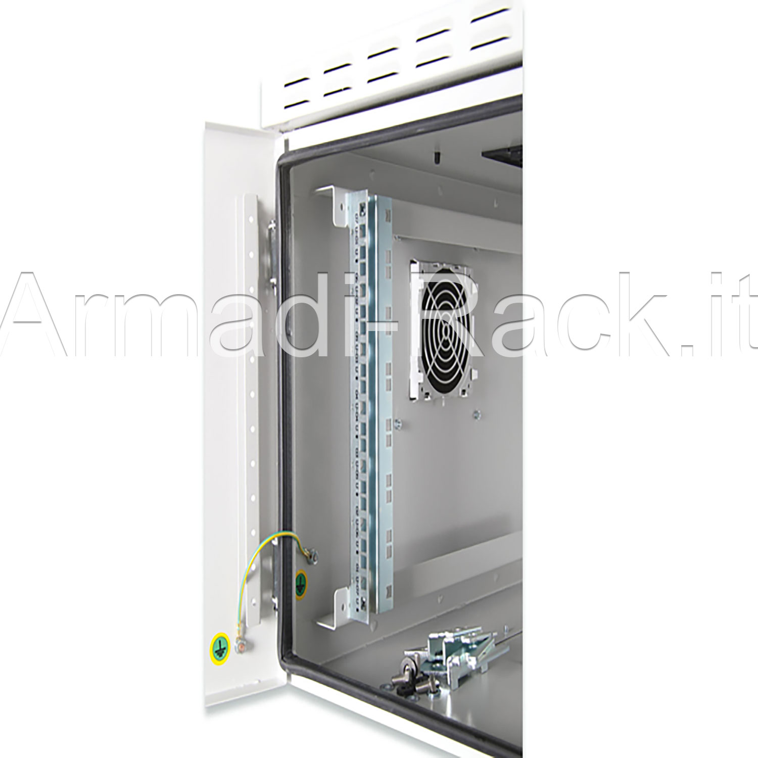 Armadio 22 unità rack per esterno IP55 Outdoor Wall Mounting 19'' Cabinets W=600mm D=600mm