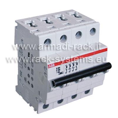 S551113 Interruttore magnetotermico 4P, 63A, 6-10kA