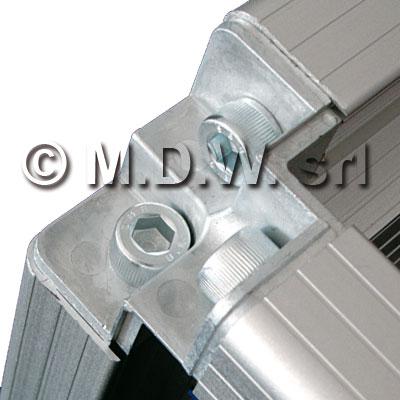 Telaio rack open frame 19 pollici - 50u x 596 x 596 (l x p mm), in alluminio anodizzato