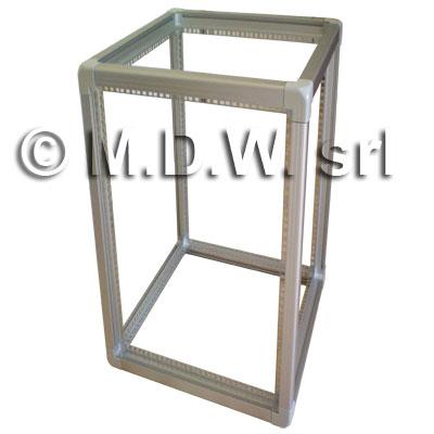 Telaio rack open frame 19 pollici - 47u x 596 x 996 (l x p mm), in alluminio anodizzato