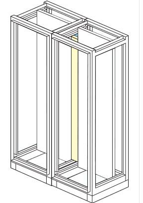 piastra di giunzione per armadio elettrico modulare altezza 1800,2000,2100