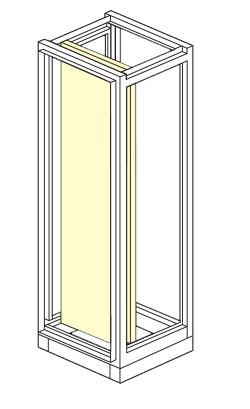 porta interna per armadio elettrico modulare altezza 1800,2000,2100