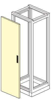 porta anteriore cieca armadio elettrico modulare altezza 1800,2000,2100