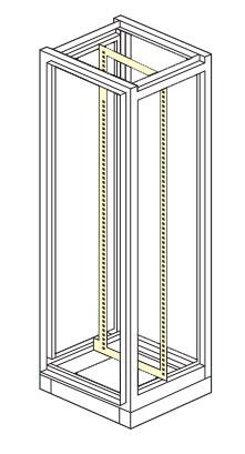"telaio interno rack 19"" x armadio elettrico modulare altezza 1800,2000,2100"