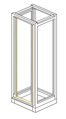 telaio esterno armadio elettrico modulare altezza 1800,2000,2100