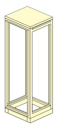 scheletro armadio elettrico modulare altezza 1800,2000,2100