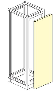 pareti laterali per armadio elettrico modulare altezza 1800,2000,2100