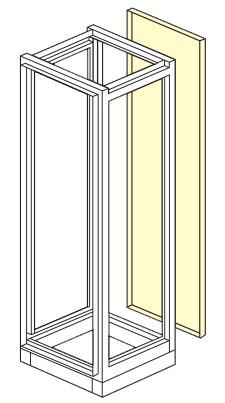 parete posteriore armadio elettrico modulare altezza 1800,2000,2100
