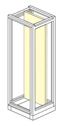 piastra unica per armadio elettrico modulare altezza 1800,2000,2100