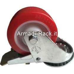 Ruota girevole diametro 80x30 con freno portata 120 kg