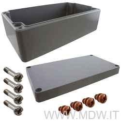 MBA 561690 (560x160x90 mm) custodia in alluminio a norma DIN EN 60529, IP66, colore grigio RAL 7001