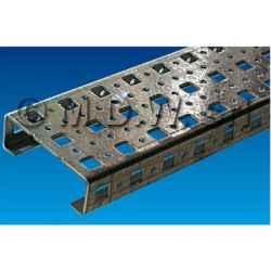 """Barra di sostegno / traversa di profilato a """"C"""" di lunghezza L = 526 mm"""