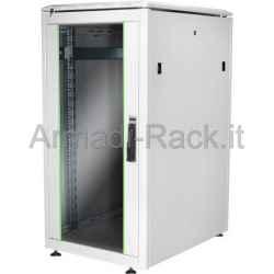 Armadio 22 Unita' Linea Professionale (A)1200 x (L)600 x (P) 800 Mm. Grigio Chiaro Ral7035 (Dn-19 22U-6/8)