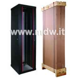 Armadio 26 Unita' Linea Eco Server 19 da Assemblare Mm. (A)1300 x (L)600 x (P)1000 Colore nero RAL 9005