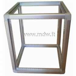 Telaio rack open frame 19 pollici - 12U X 551 X 551 (L x P mm), in alluminio anodizzato