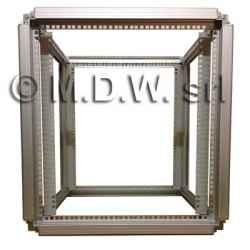 Telaio rack open frame 19 pollici - 12U X 596 X 551 (L x P mm), in alluminio anodizzato