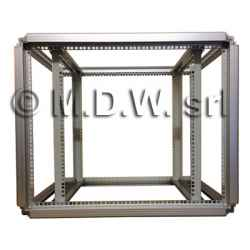 Telaio rack open frame 19 pollici - 12U X 818 X 596 (L x P mm), in alluminio anodizzato
