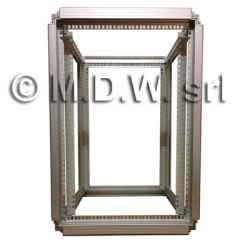 Telaio rack open frame 19 pollici - 18u x 596 x 551 (l x p mm), in alluminio anodizzato