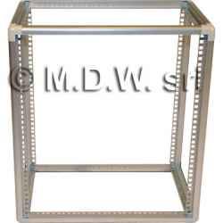 Telaio rack in alluminio 12U 574X525X259 mm