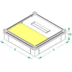Piastra di fondo 525 x 262,5 mm cieca