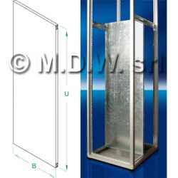 Piastra porta componenti in acciaio zincato altezza 15U per armadi larghi mm 551