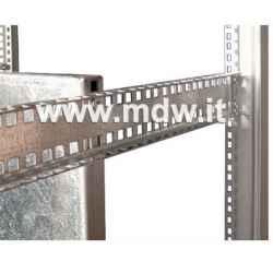 SML.11 supporto per montanti in acciaio zincato profilo a C e foratura quadra...