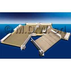 Accessorio per il fissaggio delle schede ai frontalini in nylon-vetro 6.6 UL 94 V0 + 3 D 2,5-5