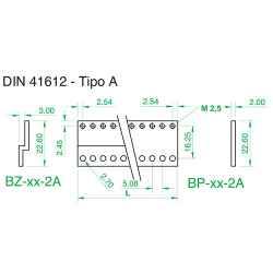 Barra a 'Z' tipo A per connettori 41612, 04TE