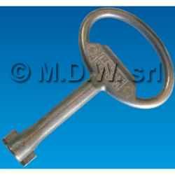 Chiave a doppia aletta per serratura quadro elettrico