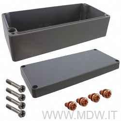 MBA 403111 (400x310x110 mm) custodia in alluminio a norma DIN EN 60529, IP66, colore grigio RAL 7001