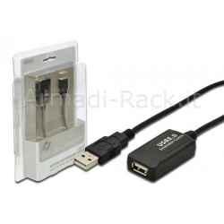 ESTENSORE DI LINEA USB 2.0 MASCHIO/FEMMINA CON CAVO DA MT. 5
