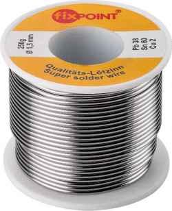 Rotolo stagno diametro 1,5 mm 250 grammi, pb 38, sn 60, cu 2