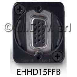 Connettore passante per video 15 pin d-sub, F/F, black
