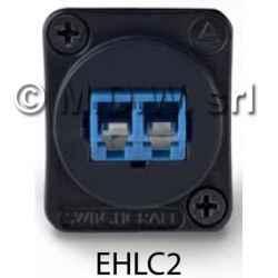 Connettore passante fibra ottica LC singlemode