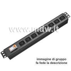 Multipresa 8 IEC C13 + inter.Magneto-Termico - struttura in alluminio